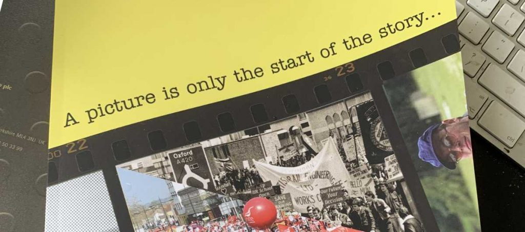 Photo of book: A picture is only the start of the story